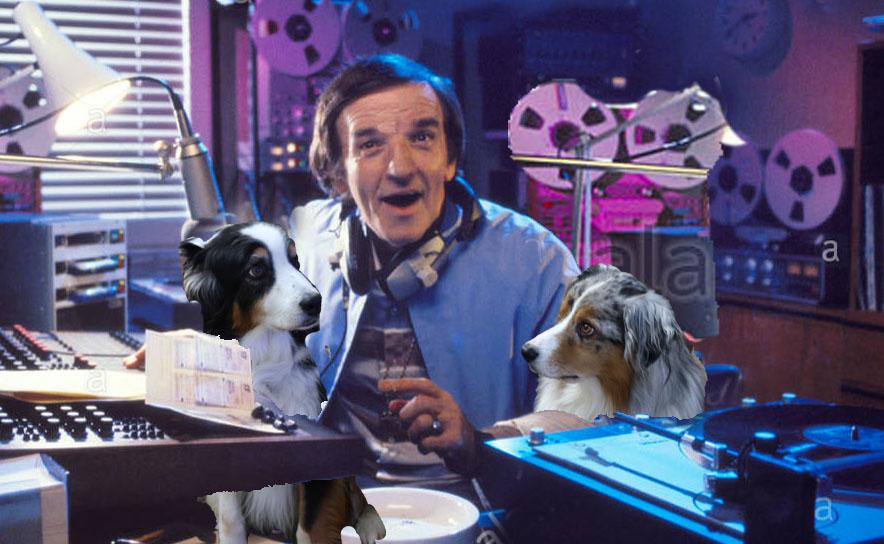 Alan Freeman disc jockey in radio studio